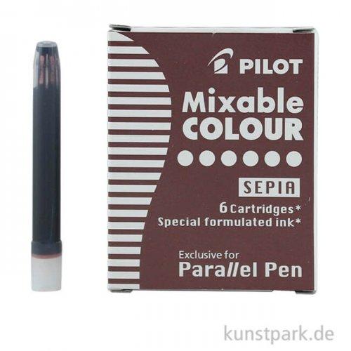 Pilot Pen Patronen 6 Stück, Farbe Sepia Braun