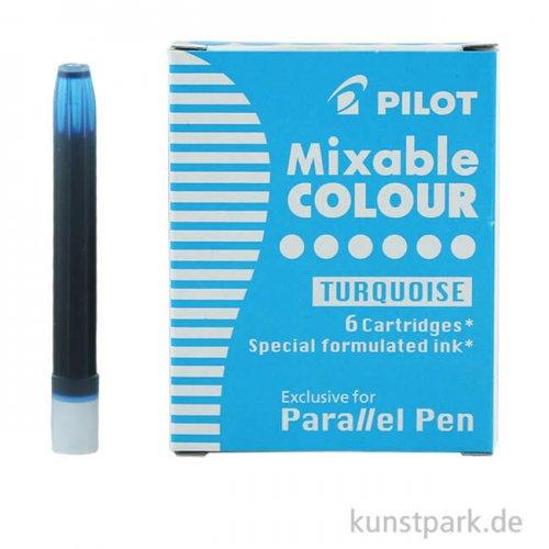 Pilot Pen Patronen 6 Stück, Farbe Türkis