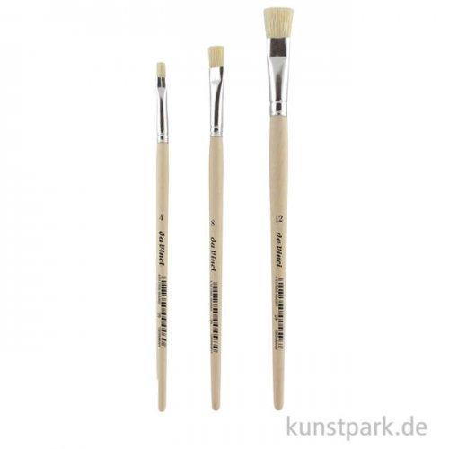 da Vinci Pinselset, 3 Borst-Pinsel, kurz, Allround