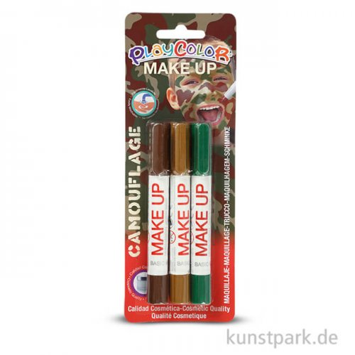 Playcolor Make up - Camouflage, 3 Stück sortiert