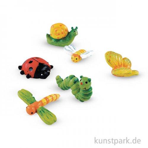Polyresin Mini-Tierchen, 2-3 cm, 6 Stück sortiert