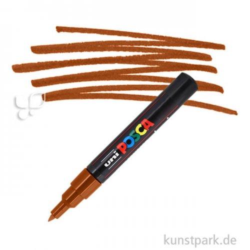 Posca Marker PC-1M - extrafein 0,7-1,3 mm Einzelstift | Braun