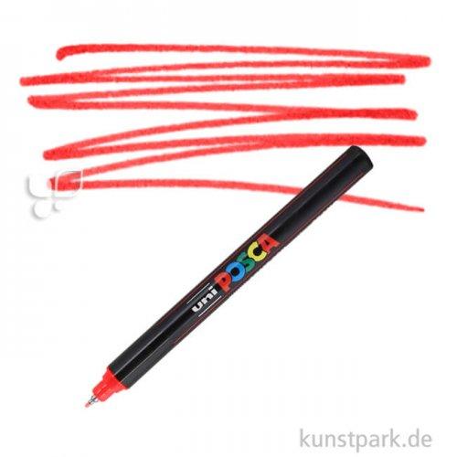 Posca Marker PC-1MR - extrafein 0,7 mm Einzelstift | Rot