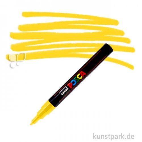 Posca Marker PC-3M - fein 1,5 mm Einzelstift   Gelb