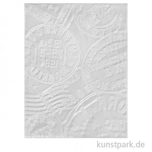 Prägeschablone - Post-Stempel, Größe 11x14 cm