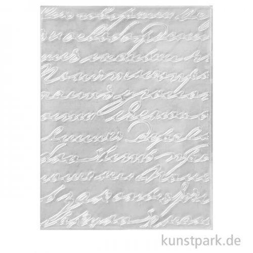 Prägeschablone - Schrift, Größe 11x14 cm