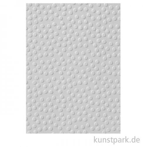 Prägeschablone Punkte klein, 106x150 mm