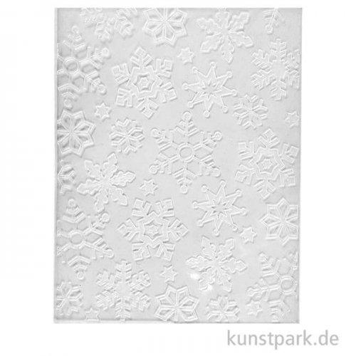 Prägeschablone - Schneeflocke, 11x14 cm