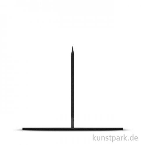 Präsentationsockel aus Metall schwarz, 25 x 25 cm, Höhe 20 cm