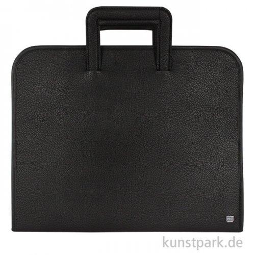 PRAT Tragemappe CLASSIC aus schwarzem Kunstleder