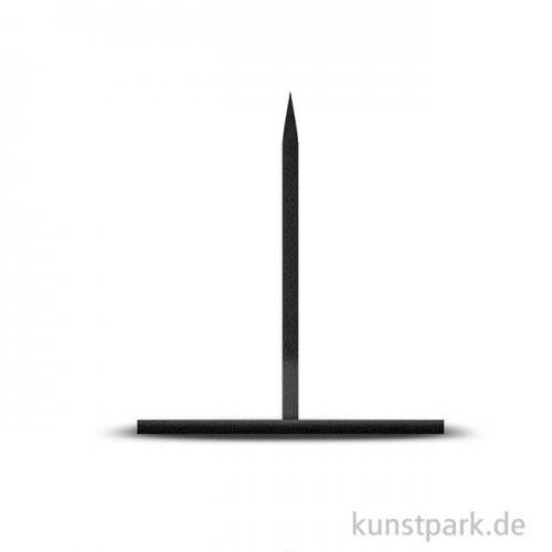 Präsentationssockel aus Metall schwarz Größe 12 x 12 cm Höhe 13 cm