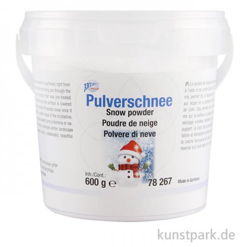 Pulverschnee, extra fein für gleichmässige Schneedecken 600 g
