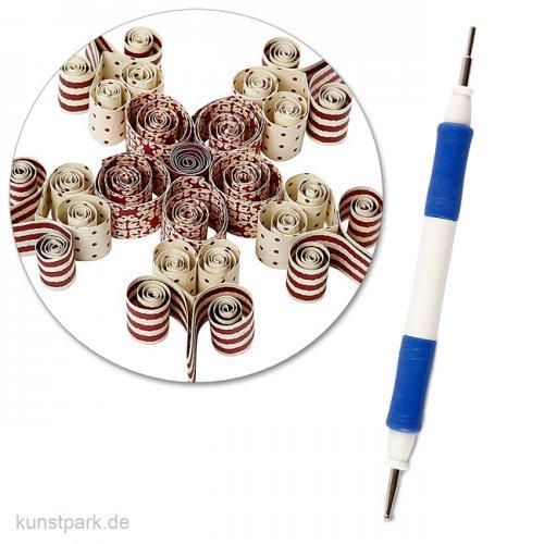 Quilling Pen - Prägestift mit Spitzen an jedem Ende, 14,6 cm