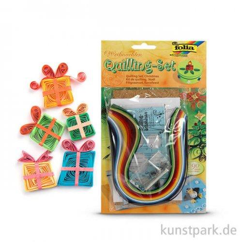 Quilling-Set Weihnachten, 290-teilig - farbig sortiert