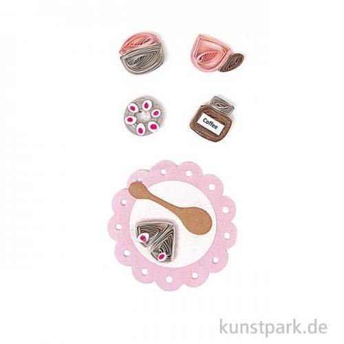 Quilling Sticker - Kaffeeklatsch, Rosa