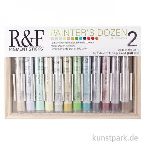R&F Pigment Sticks Set - Painters Dozen - 12 Farben