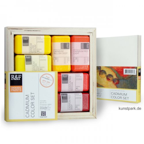 R&F Enkaustik Set - 6 Cadmium Colors & Malgrund