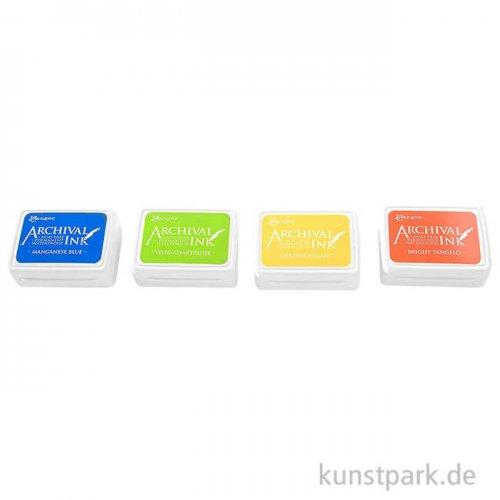 Ranger Archival Ink Fröhliche Farben Stempelkissen im 4er Set