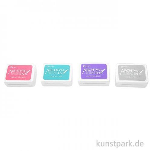 Ranger Archival Ink Sanfte Farben Stempelkissen im 4er Set