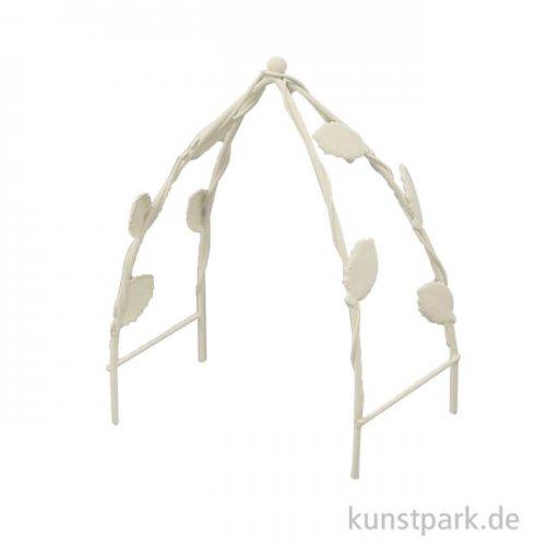 Miniatur Rankbogen - Weiß, 11,7 cm