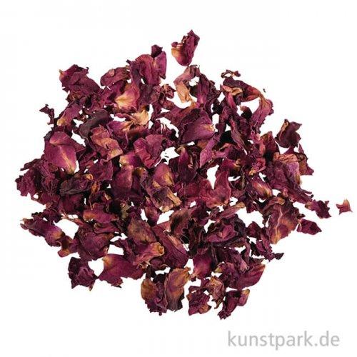 Rayher dunkel-rote Rosenblütenblätter, 3 g im Beutel