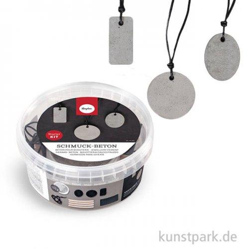 Rayher Schmuckbeton Starter Kit, mit 3 Formen + Zubehör