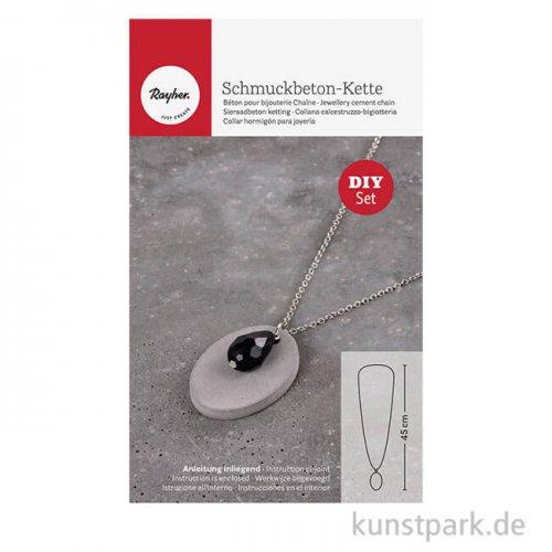 Rayher Schmuckbeton-Set Kette oval mit Zubehör