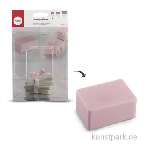 Rayher Seifengießform Block - 170 ml, 8x5,5x4 cm