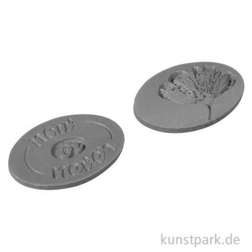 Seifenstempel - Ginko + Now or Never, 35x25 mm, 2 Stück