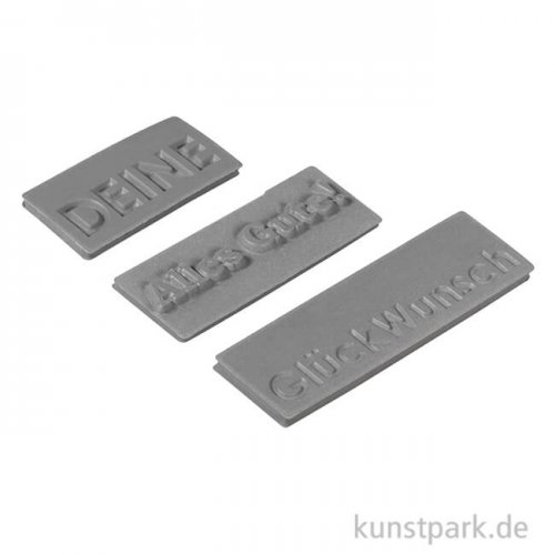 Seifenstempel - GlückWunsch, 30-50 mm, 3 Stück