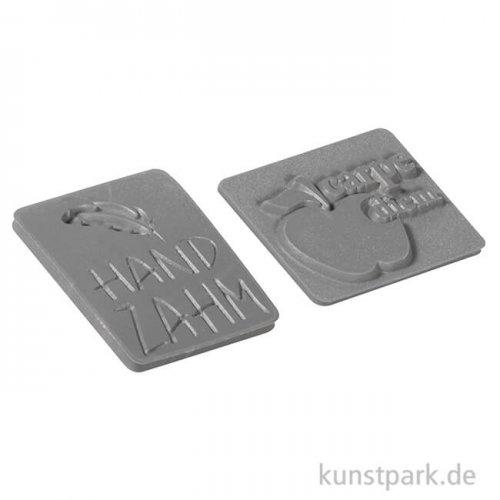 Seifenstempel - Handzahm + carpe diem - 25x30 mm, 2 Stück