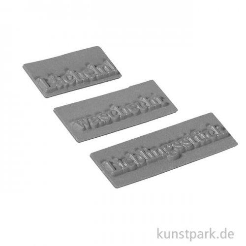 Seifenstempel - Lächeln - 30-50x15 mm, 3 Stück sortiert