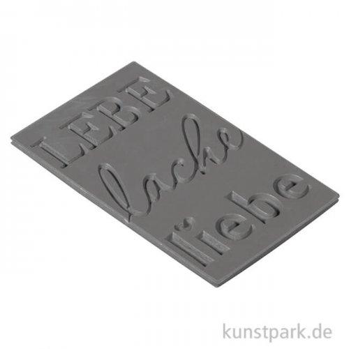 Seifenstempel - Lebe-lache-liebe - 40x65 mm, 1 Stück