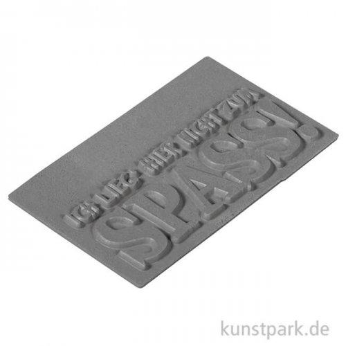 Seifenstempel - nicht zum Spass - 40x65 mm, 1 Stück