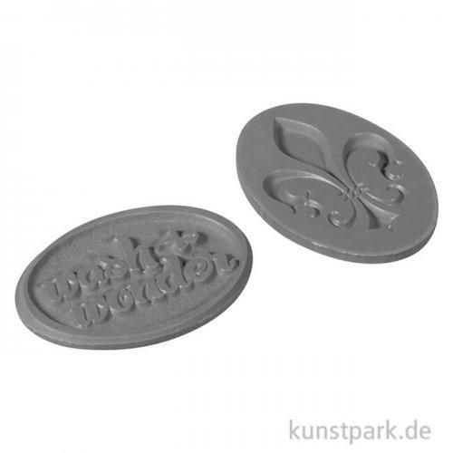 Seifenstempel - wash&wonder + Lilie - 35x25 mm, 2 Stück
