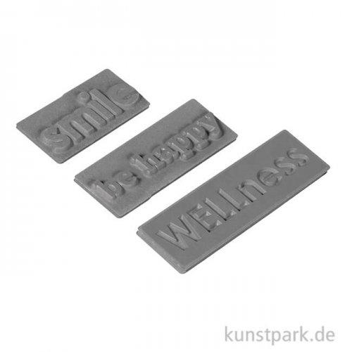 Seifenstempel - WELLness, 30-50 mm, 3 Stück