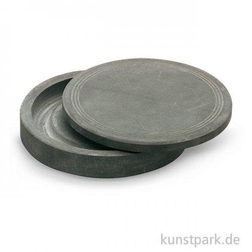 Reibeschale für Tusche mit Deckel groß d = 125 mm