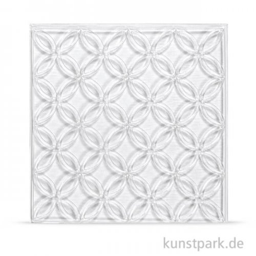 Relief-Eingießplatte für Fliese - Blumenzirkel