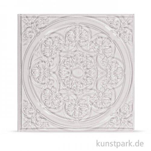 Relief-Eingießplatte für Fliese - Mandala