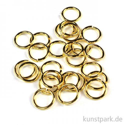 Ringel - Gold Dm 7 mm - 30 Stück