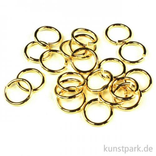Ringel - Gold Dm 8 mm - 20 Stück