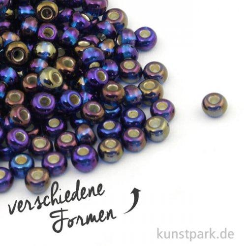 Rocailles mit Silbereinzug & Rainbow - 4 mm