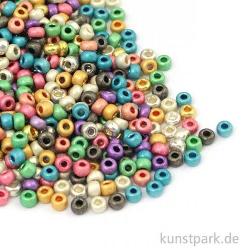 Rocailles Perlmutt Mix - 2,6 mm, 17g Dose
