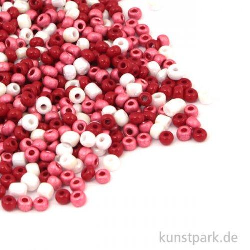 Rocailles Perlmutt Rosé Mix - 2,6 mm, 17g Dose