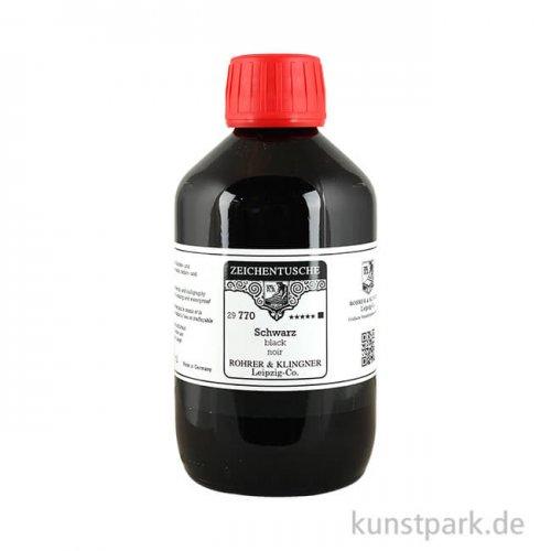 Rohrer + Klingner Zeichentusche - 770 Schwarz 250 ml