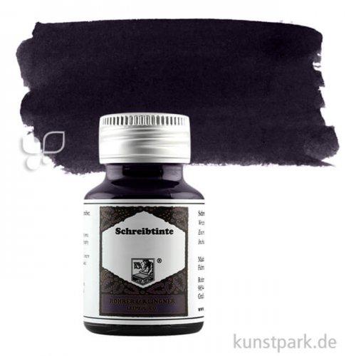 Rohrer & Klingner Schreibtinte 50 ml   707 Leipziger Schwarz