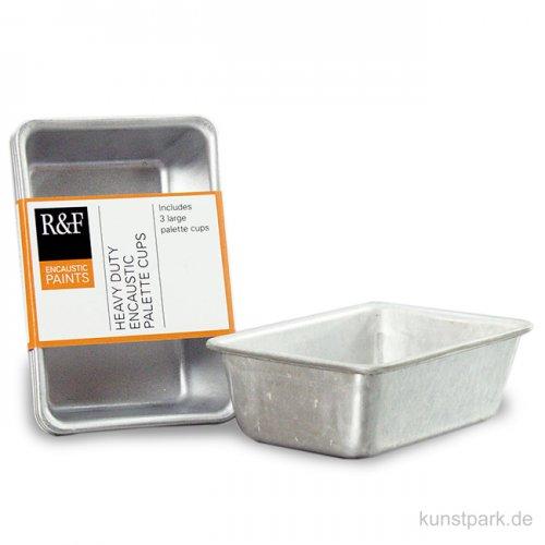 R&F Enkaustik Aluminiumnäpfe groß für 104 ml im 3er Set