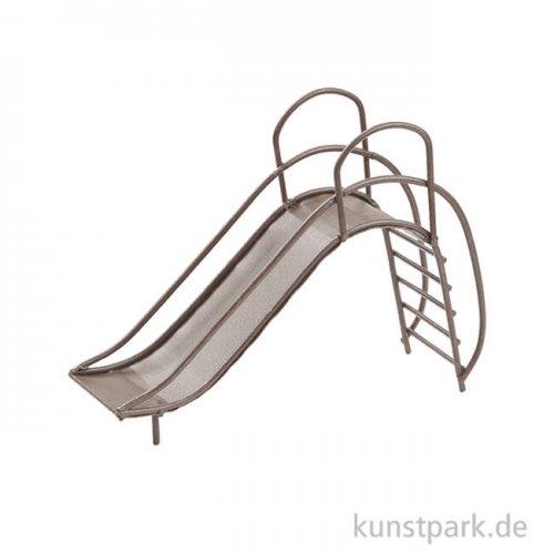 Rutsche aus Metall - Braun, 12,5 cm