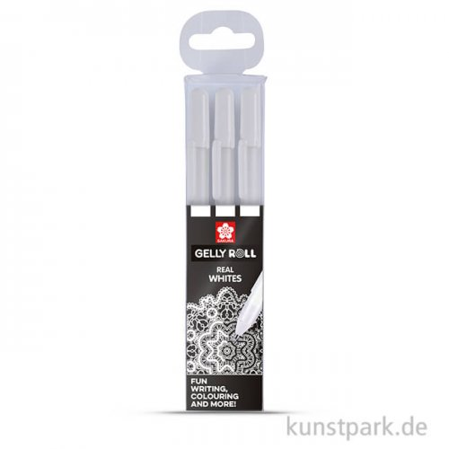 Sakura Gelly Roll 3er Set - weiß Medium