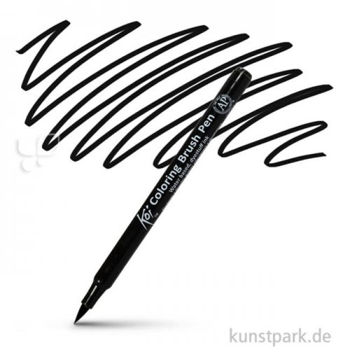 Sakura KOI Coloring Brush Pen Einzelstift | Black